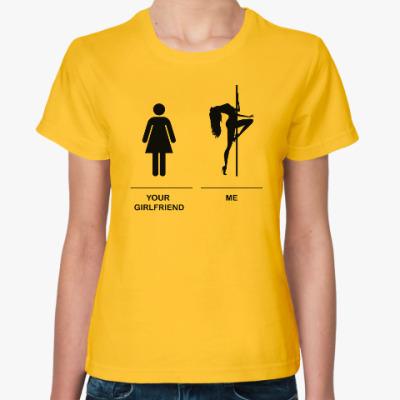 Женская футболка I am pole dancer