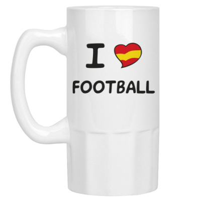 Пивная кружка Я люблю испанский футбол