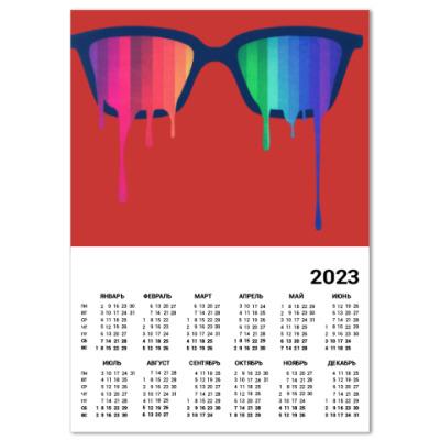 d02797b4c0ee Календарь Хипстер  очки - купить в интернет-магазине Printdirect.ru