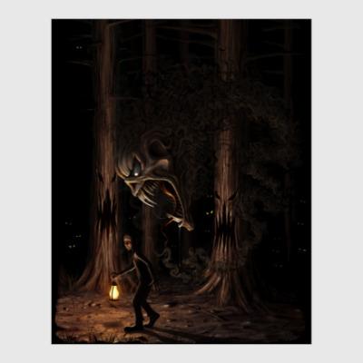 Постер Ночная тварь из леса