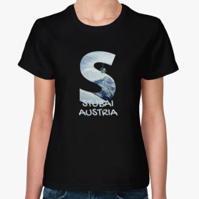 Женская футболка Горы, Штубай, Австрия