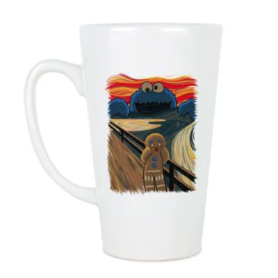 Чашка Латте Cookie Monster The Scream