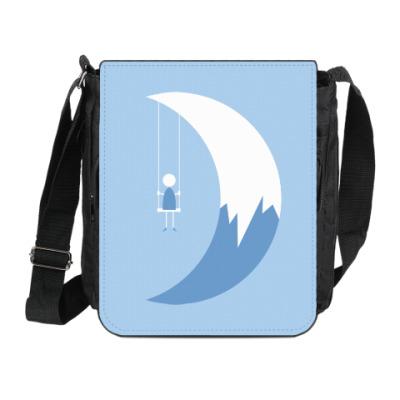 Сумка на плечо (мини-планшет) Качели на Луне