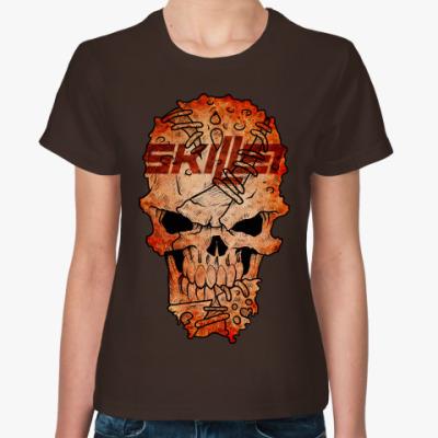 Женская футболка Skillet Skull