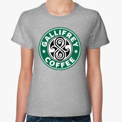Женская футболка Gallifrey Coffe