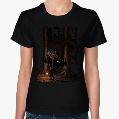 Женская футболка Ночная тварь из леса