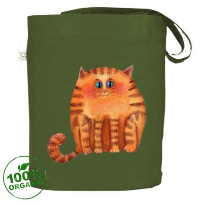 Акварельный рыжий кот
