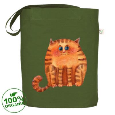 Сумка Акварельный рыжий кот