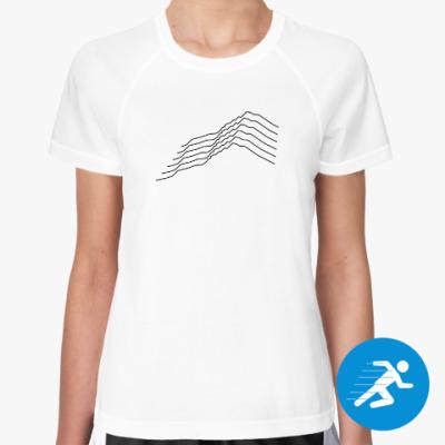 Женская спортивная футболка Mountains Lines