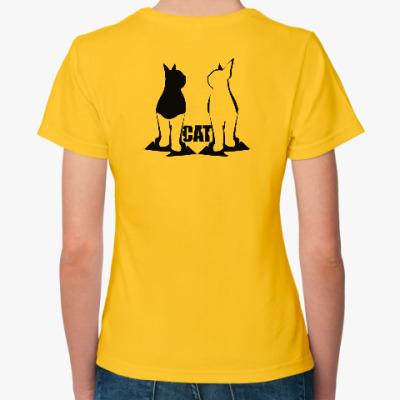Женская футболка Кошачья семья