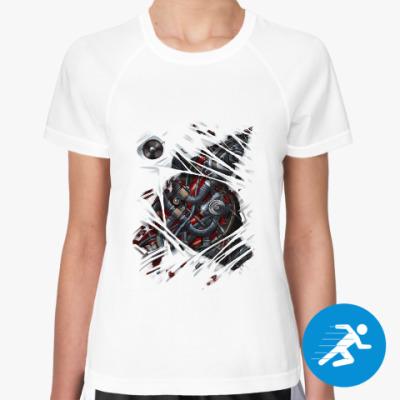 Женская спортивная футболка Киборг