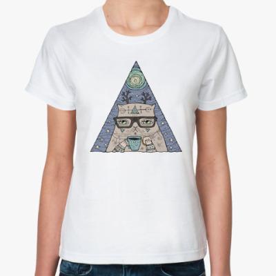 Классическая футболка Кот учёный