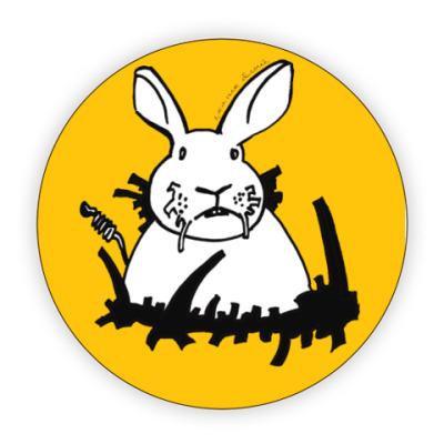 Костер (подставка под кружку) Кролик белый