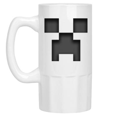 Пивная кружка Minecraft Creeper