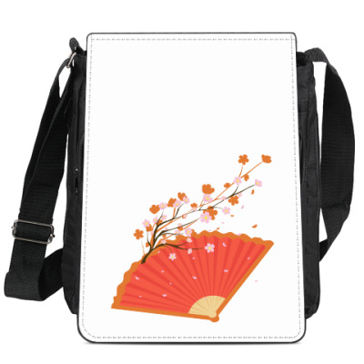 Сумка-планшет Веер с сакурой