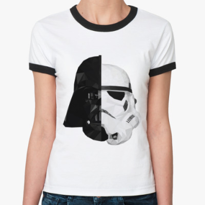 Женская футболка Ringer-T Star Wars: Вейдер и Штурмовик