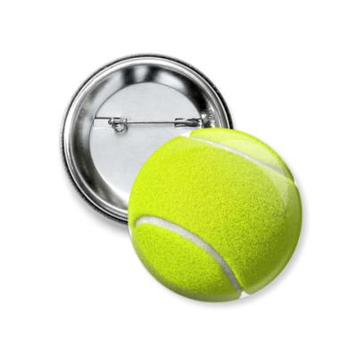 Значок 37мм Теннисный мяч