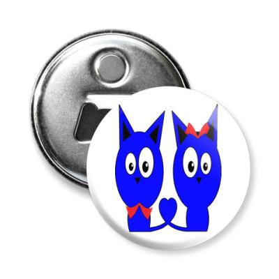 Магнит-открывашка Котики