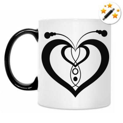 Кружка-хамелеон Сердце