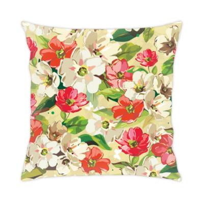 Подушка Цветочная, цветы