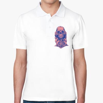 Рубашка поло Череп со щупальцами