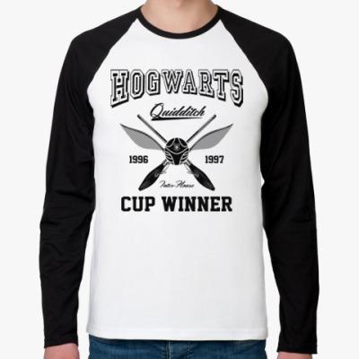Футболка реглан с длинным рукавом Hogwarts Quidditch Cup Winner