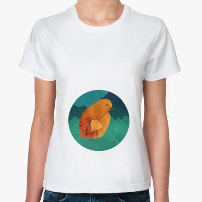 Классическая футболка Цыпленок, большой и одинокий