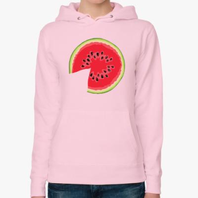 Женская толстовка худи watermelon