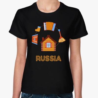 Женская футболка Russia, Россия