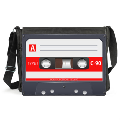 Сумка Винтажная аудиокассета