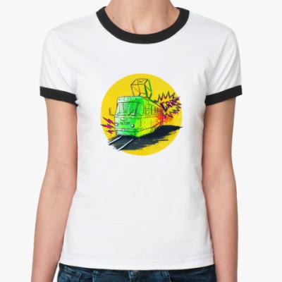Женская футболка Ringer-T Трамвай
