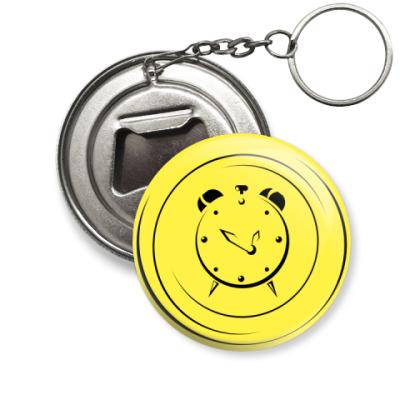 Брелок-открывашка Желтый будильник
