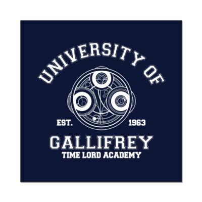 Наклейка (стикер) University of Gallifrey