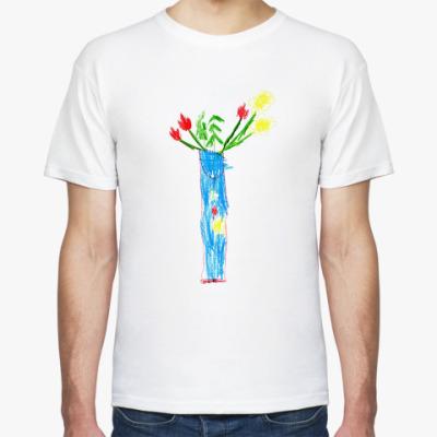 Футболка Ваза с цветами
