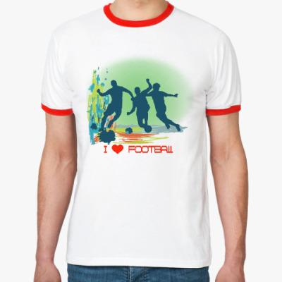 Футболка Ringer-T Я люблю футбол