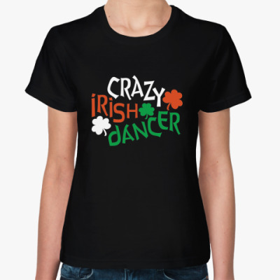 "Женская футболка футболка ""Irish Dancer"""
