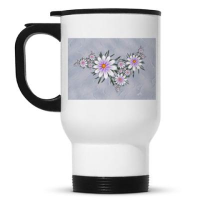 Кружка-термос Нежные цветы