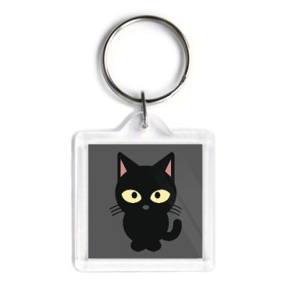 Брелок Черный Котик