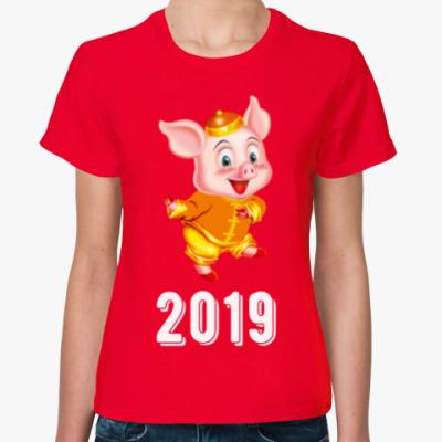 Женская футболка Happy Piggy Year