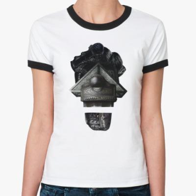 Женская футболка Ringer-T Рыцарский герб