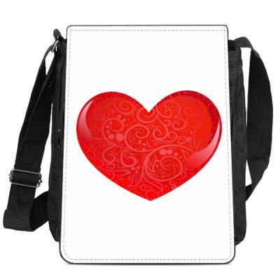 Сумка-планшет Стеклянное сердце