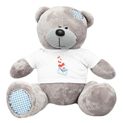 Плюшевый мишка Тедди Любовный конверт