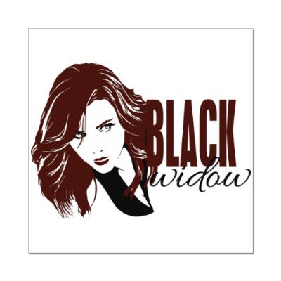 Наклейка (стикер) Чёрная Вдова
