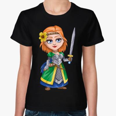 Женская футболка Рыжая с мечом
