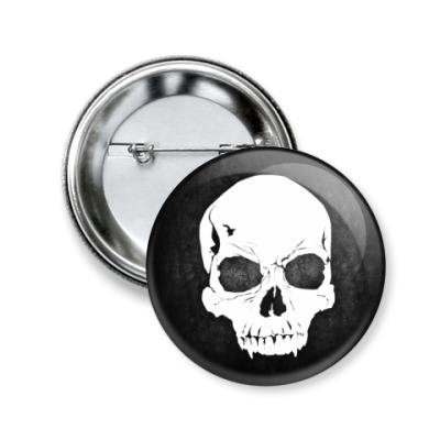 Значок 50мм Rock Skull