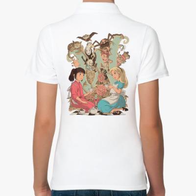 Женская рубашка поло Wonderland Alice and Chihiro