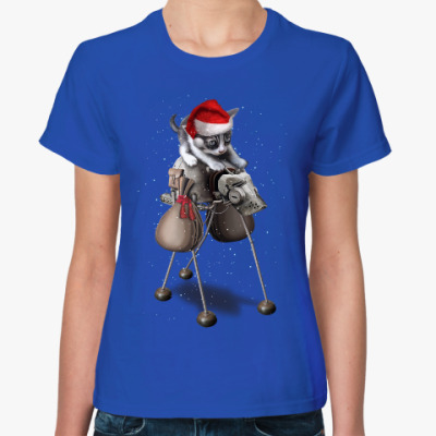 Женская футболка Happy New Year steampunk cat