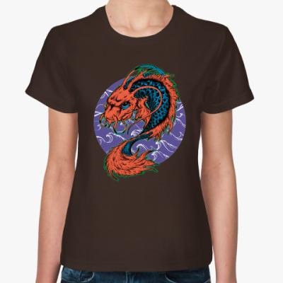 Женская футболка Dragon Fish