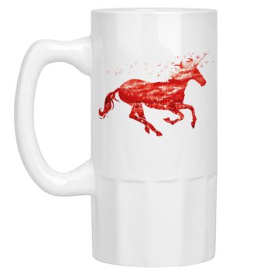 Пивная кружка Рубиновый Единорог
