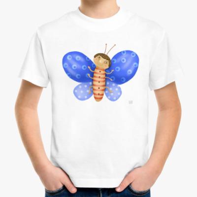 Детская футболка Смешная бабочка